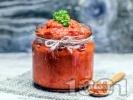 Рецепта Лесна лютеница без патладжани